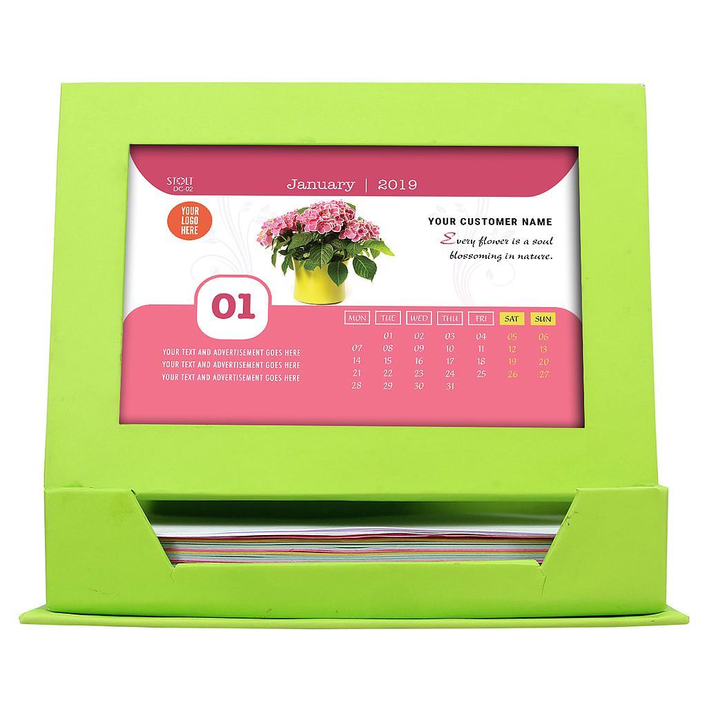 Desk Calendar - Theme - Flowers