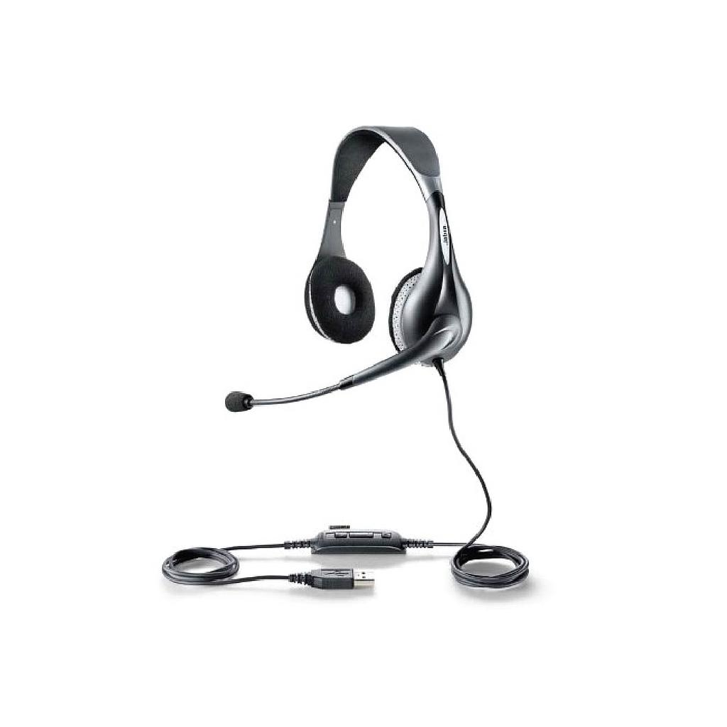 Jabra UC Voice 150 Duo Corded Over The Head Headset With Mic