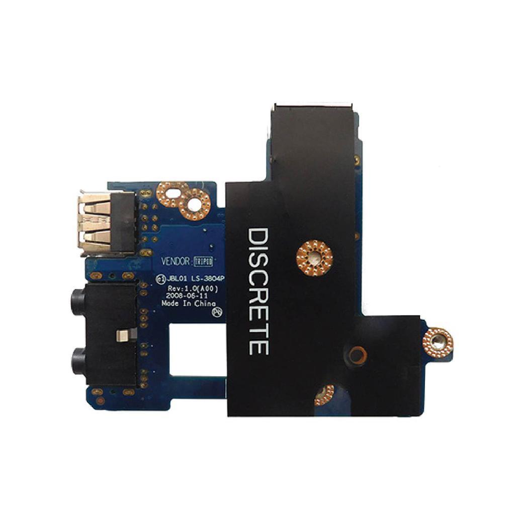 Dell Latitude Audio Ethernet USB Port Board For E6400 Laptop
