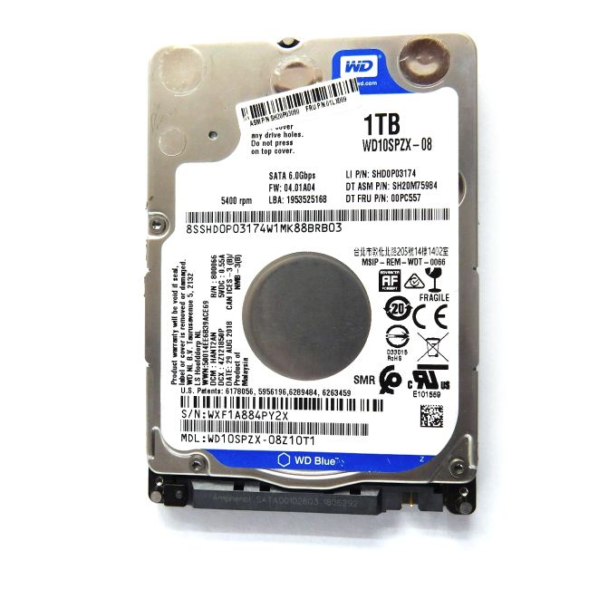 "Western Digital Blue 1TB SATA 2.5"" internal Laptop Hard Disk-WD10SPZX-08"