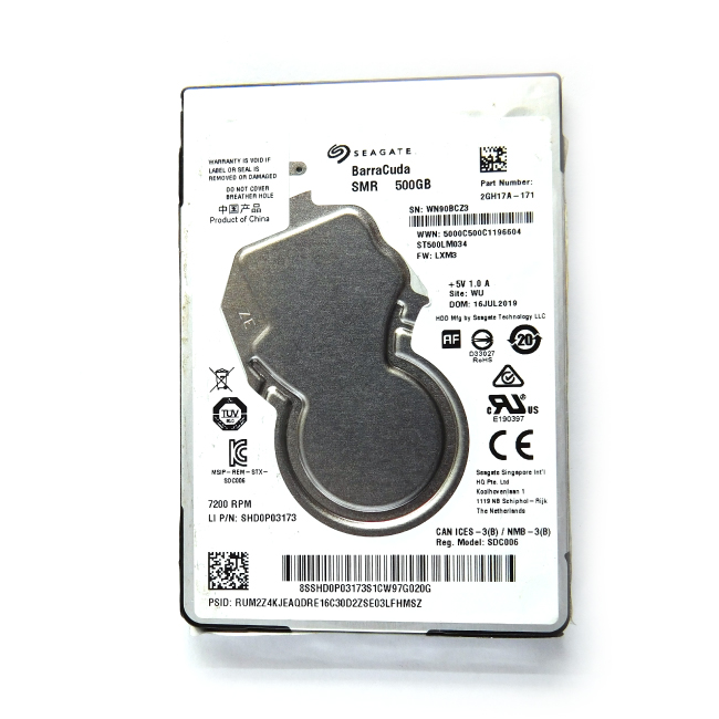 "Seagate Barracuda 500GB SATA 7200RPM 2.5"" Laptop Hard Disk