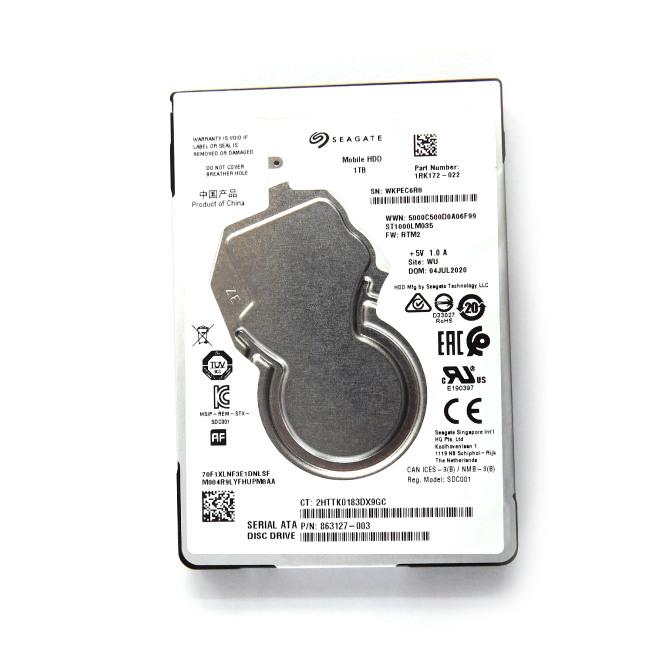 Seagate 1TB SATA 5400RPM Laptop Hard Disk
