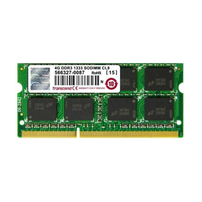 Transcend 4GB DDR3 1333MHz 2Rx8 Laptop RAM