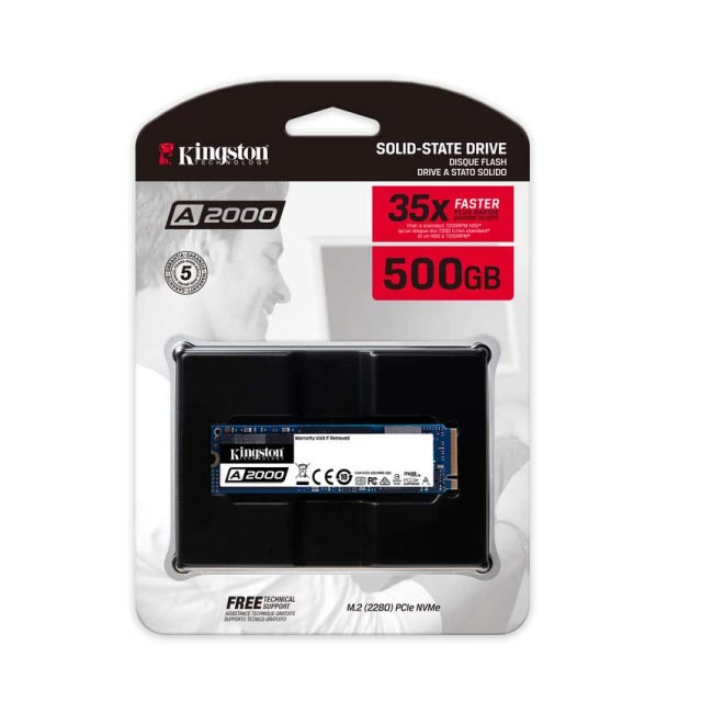 Kingston 500GB SSD M.2 NVME Laptop Hard Disk|SA2000M8/500G