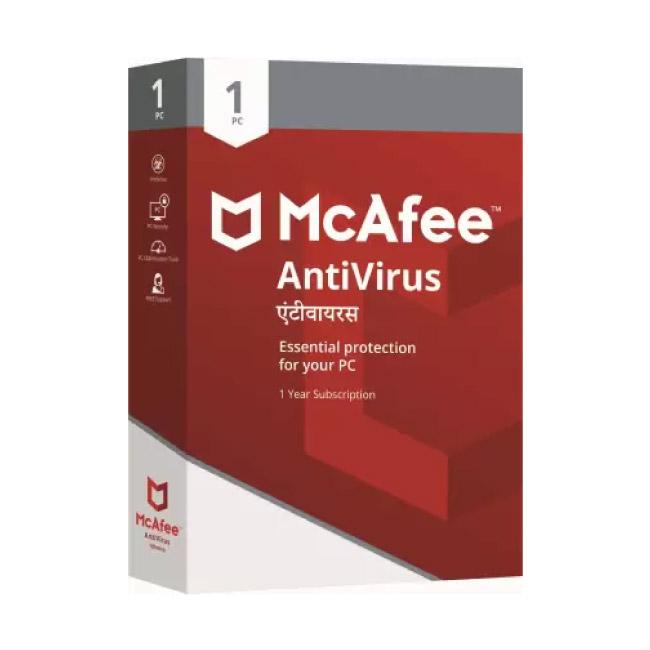 Mcafee Antivirus For 1 PC | 1 year