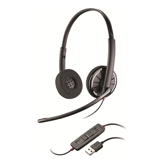 Plantronics C320-M  Over The Head Wired Headset