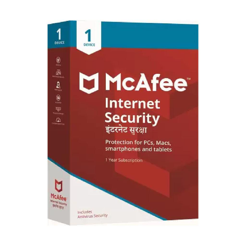 McAfee Internet Security 1 PC | 1 Year