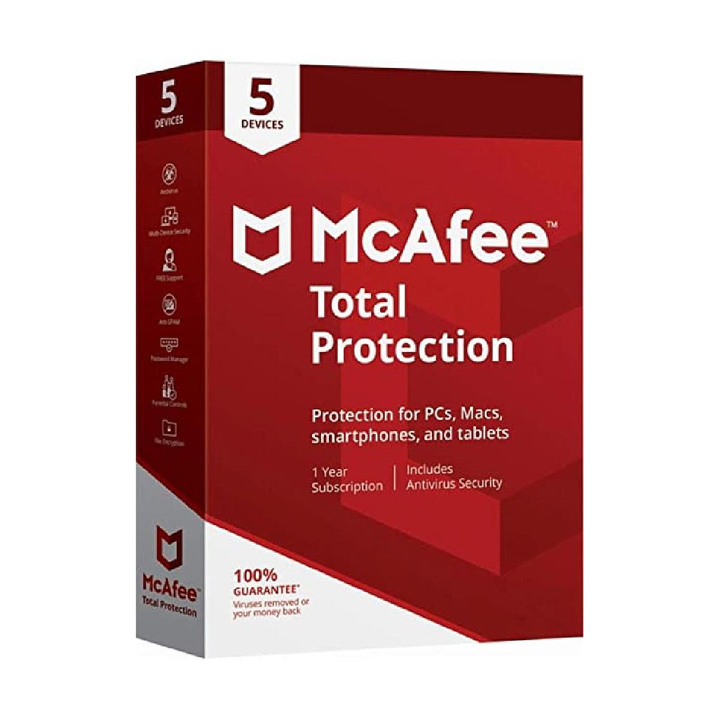 McAfee Internet Security 5 PCs | 1 Year