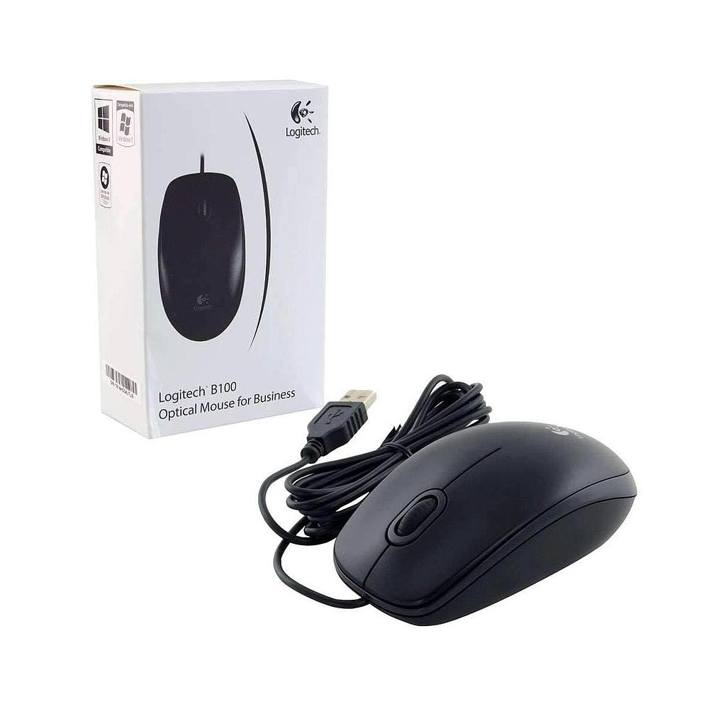 Logitech B100 USB Wired Optical Mouse