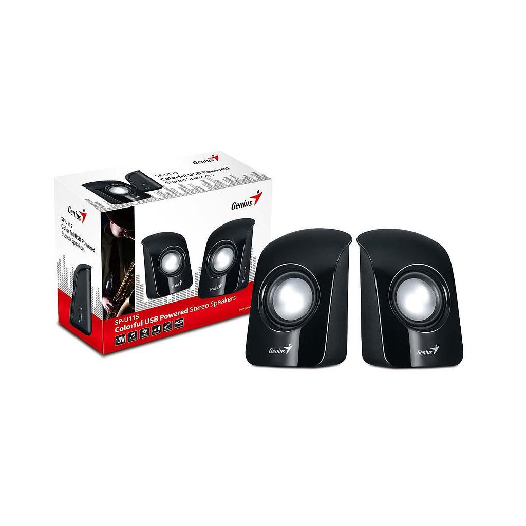 Genius SP-U115 Stereo Wired Speaker|Black