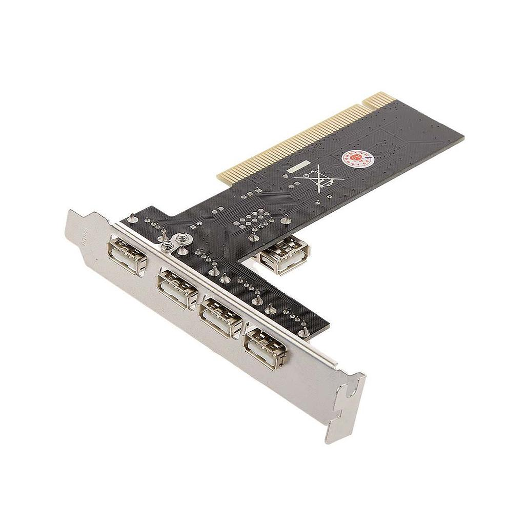 Millennium High Speed 5 Ports USB 2.0 Hub PCI Controller Card