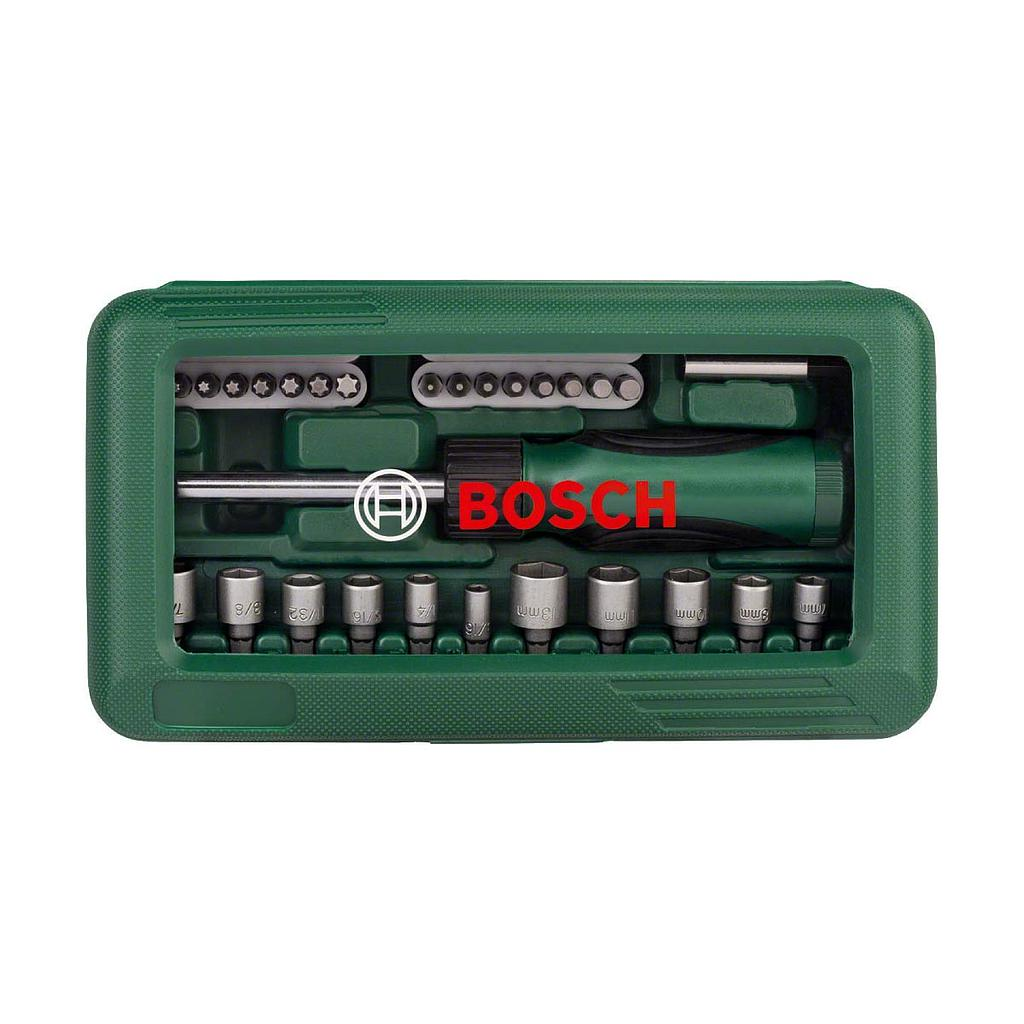 Bosch 66041612 46-Pieces Screwdriver Bits Set - Black and Silver
