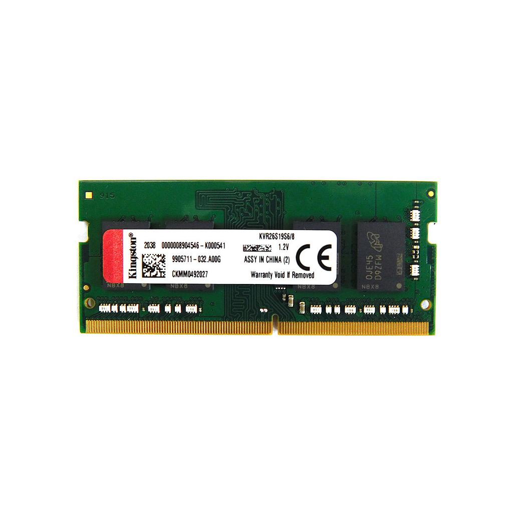 Kingston 8GB DDR4 2666Mhz 1Rx8 Laptop RAM