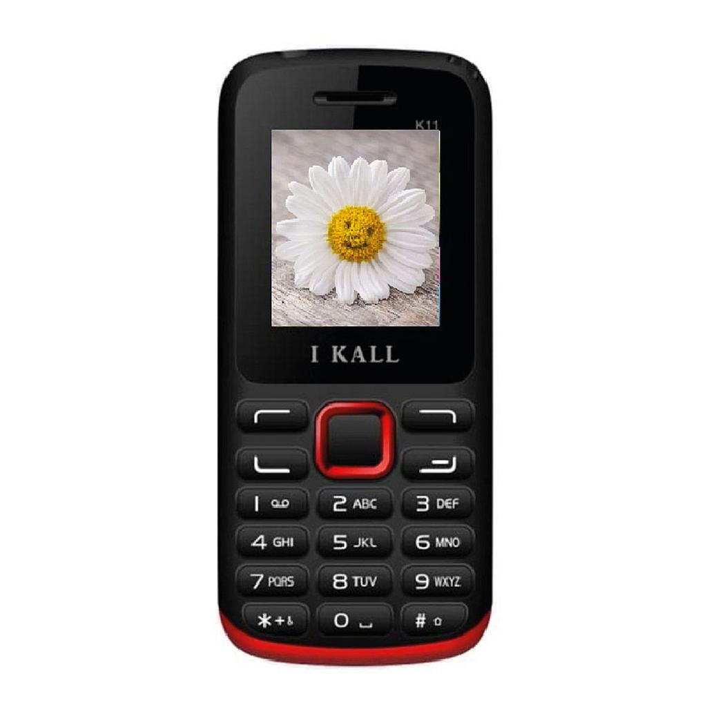 I-Kall K11 Slim & Sleek Dual Sim Feature Phone | Red