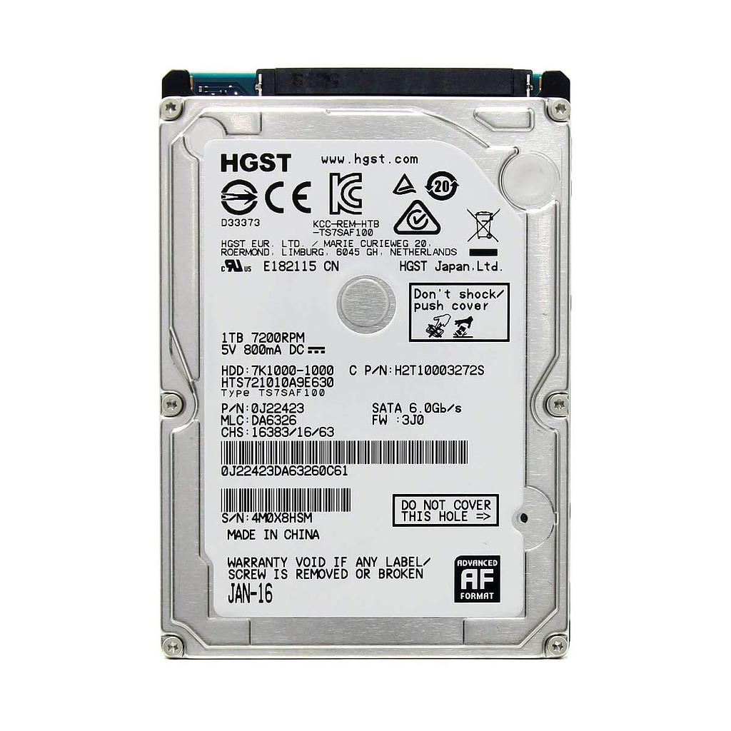 "HGST Travelstar 7K1000 1TB 2.5"" 7200 RPM Laptop Hard Disk
