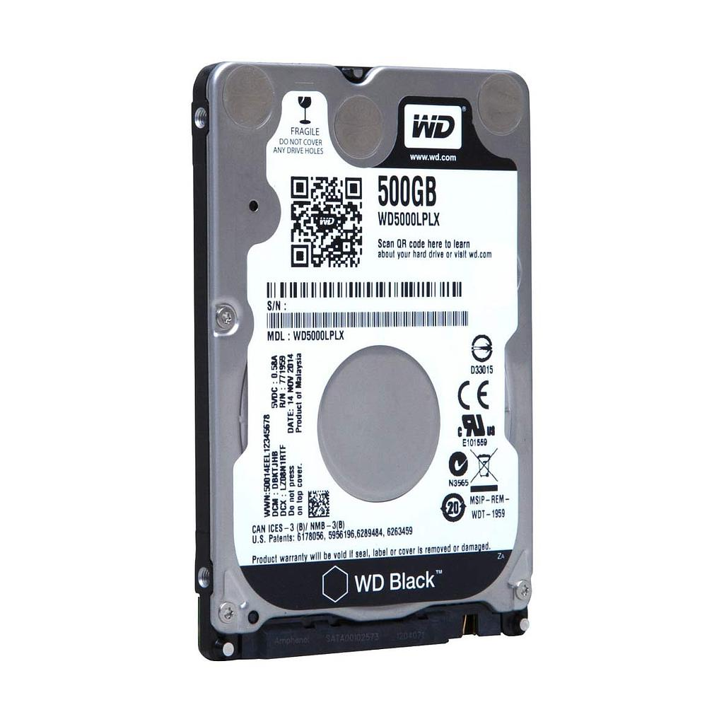 "Western Digital 500GB SATA 2.5"" 7200 RPM Laptop Internal Hard Disk