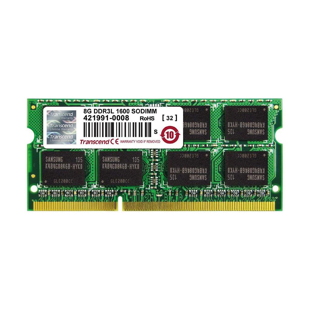 Transcend 8GB DDR3L 1600Mhz 2Rx8 Laptop RAM