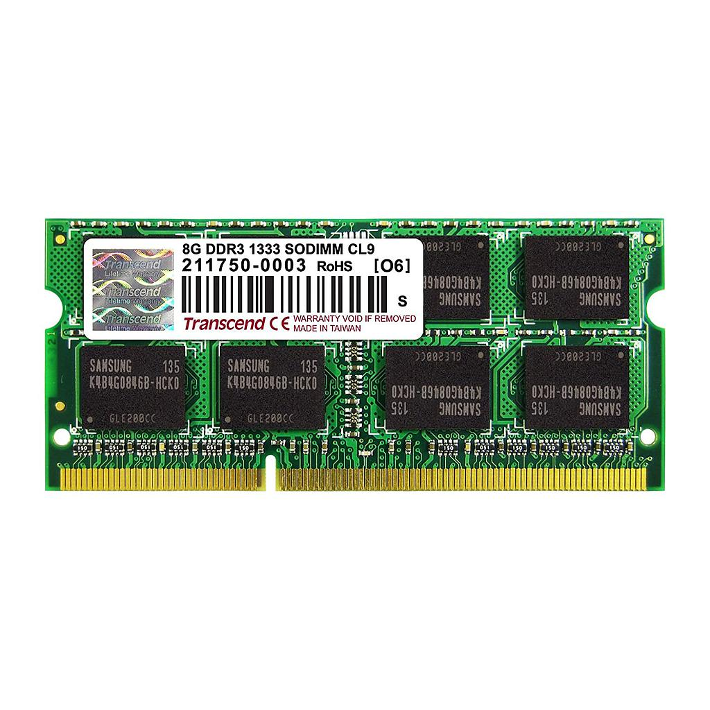 Transcend 8GB DDR3 1333Mhz 2Rx8 Laptop RAM