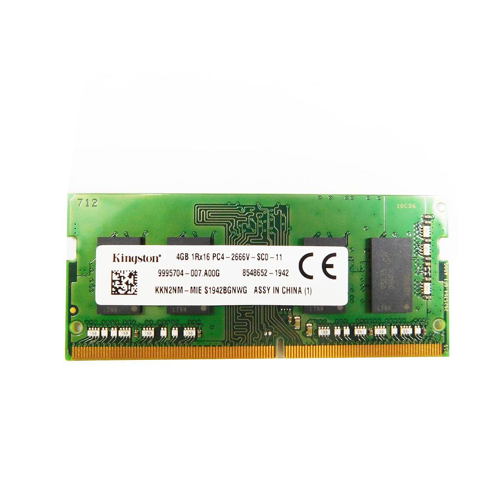 Kingston 4GB DDR4 2666Mhz 1RX16 Laptop RAM