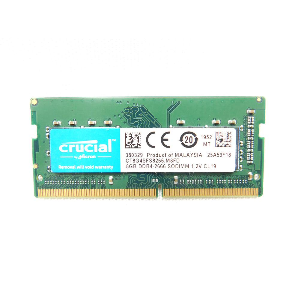 Crucial 8GB DDR4 2666MHz Laptop RAM