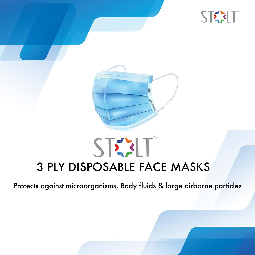 STOLT - 3 Ply Disposable Face Mask - Grey Set of 20
