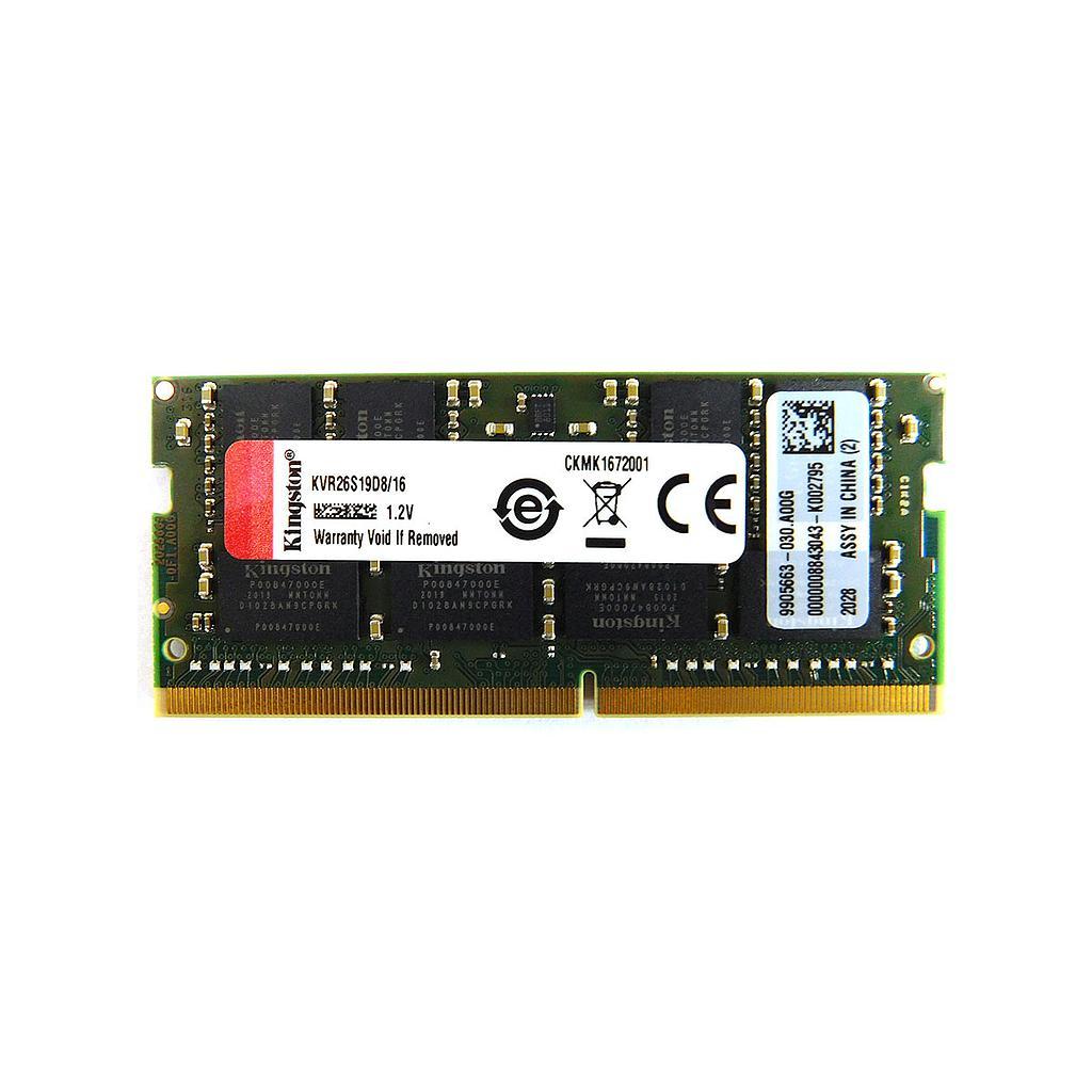Kingston 16GB DDR4 2666Mhz Laptop RAM