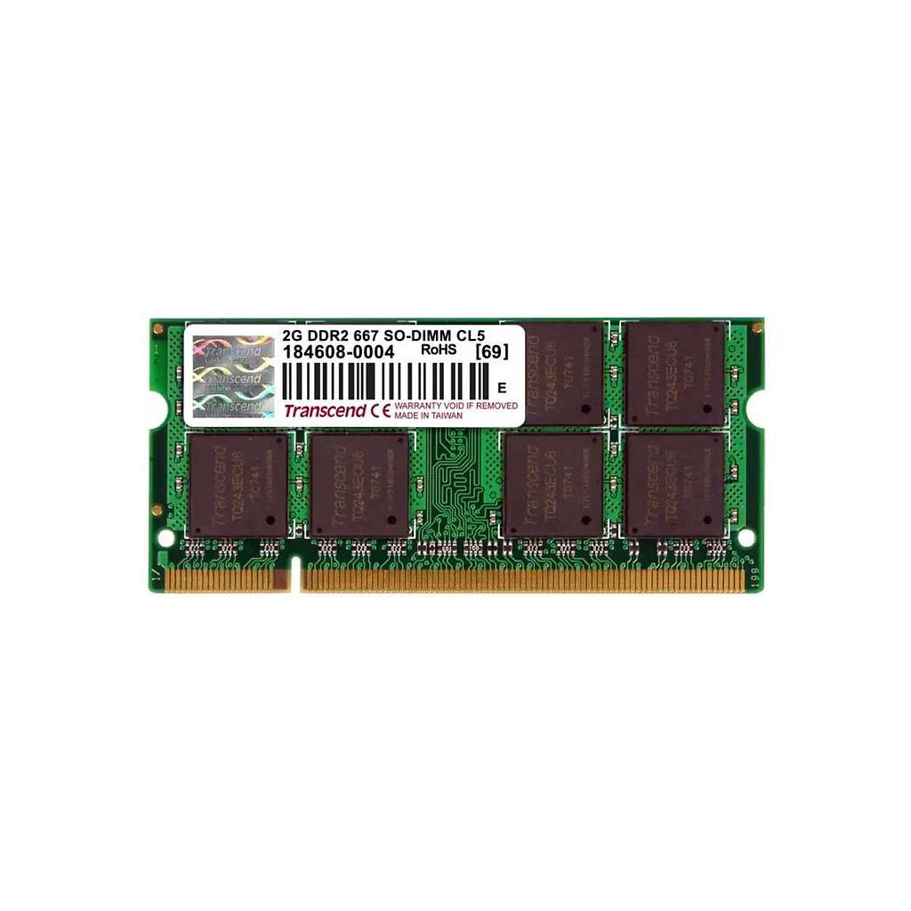 Transcend 2GB DDR2 667MHz Laptop RAM