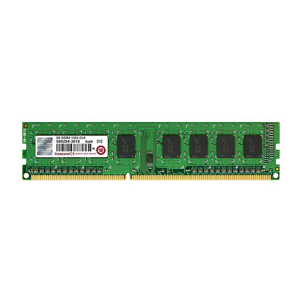 Transcend 2GB DDR3 1333MHz Desktop RAM