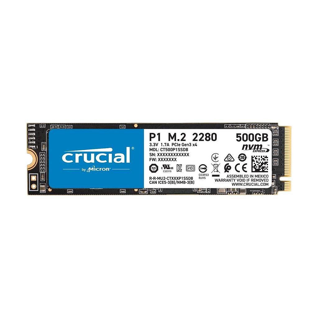Crucial P1 500GB 3D NAND NVMe PCIe M.2 SSD Laptop Hard Disk