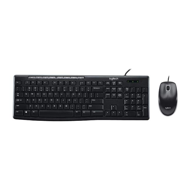 Logitech MK200 Wired Keyboard And Mouse (Combo) 3Yrs
