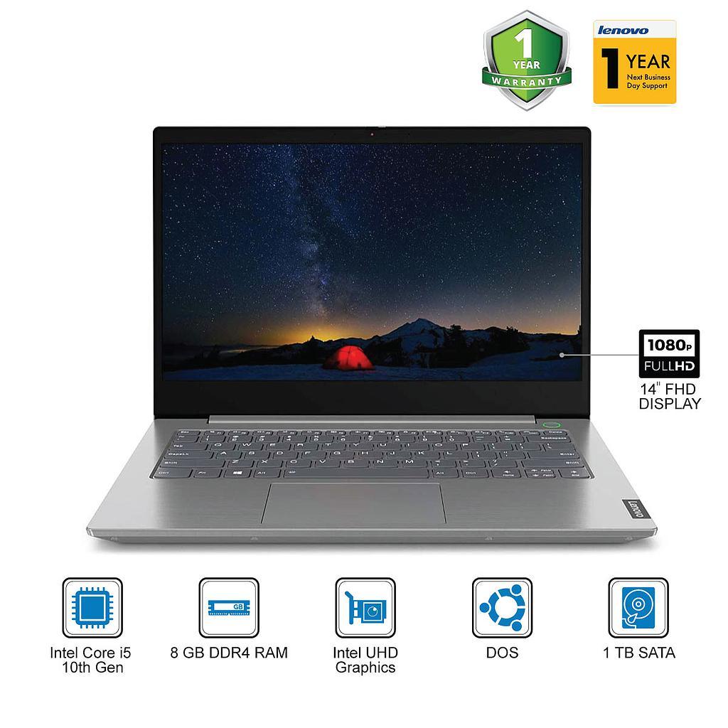 "Lenovo ThinkBook 14 Laptop : Intel Core i5-10th Gen|8GB|1TB|14""FHD|DosI1Yr"