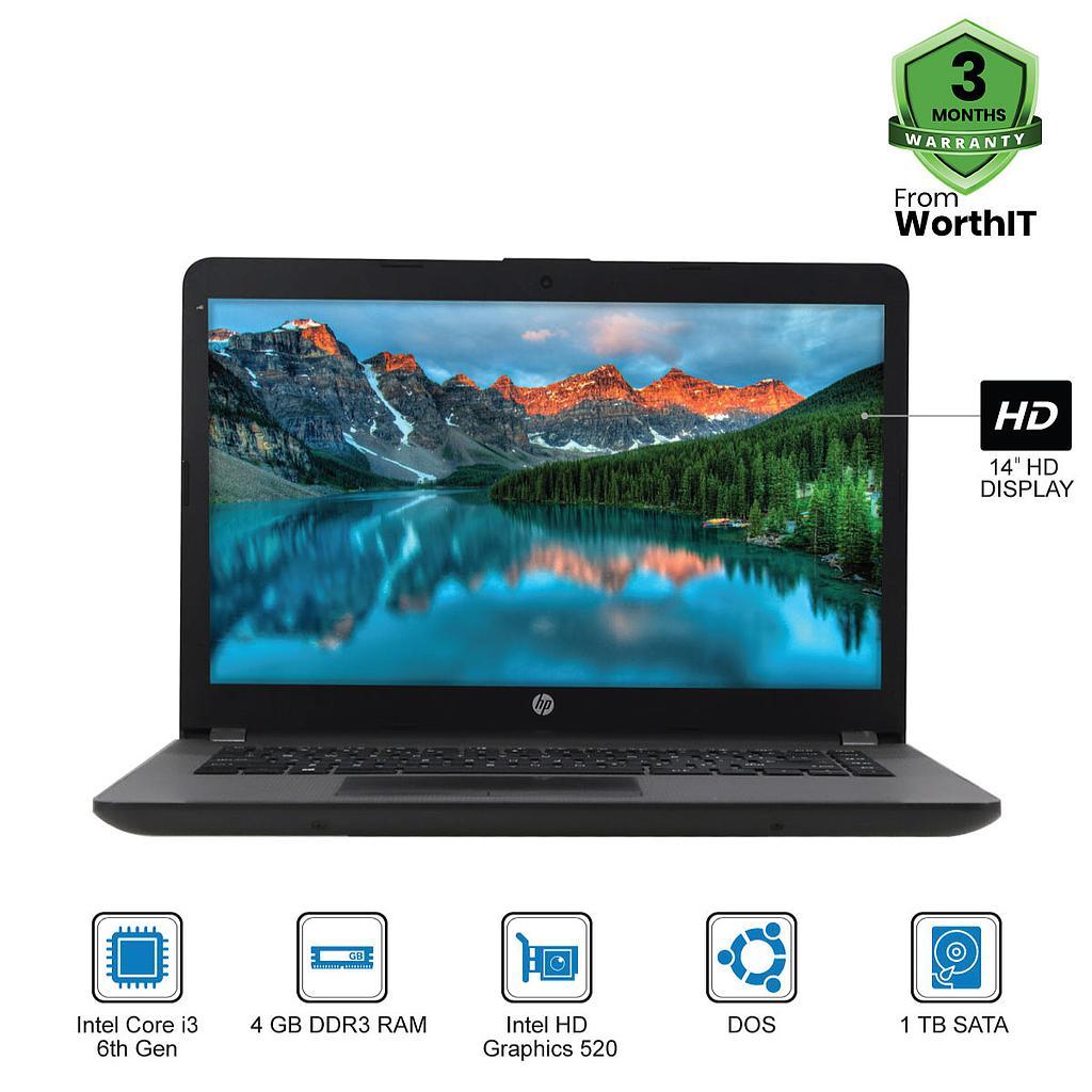 "HP 240 G5 Laptop : Intel Core i3-6th Gen|4GB|1TB|14""HD|DOS"