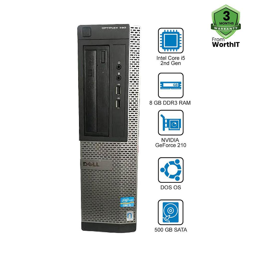 Dell OptiPlex 390 CPU : Intel Core i5-2nd Gen 8GB 500GB DVD DOS GC
