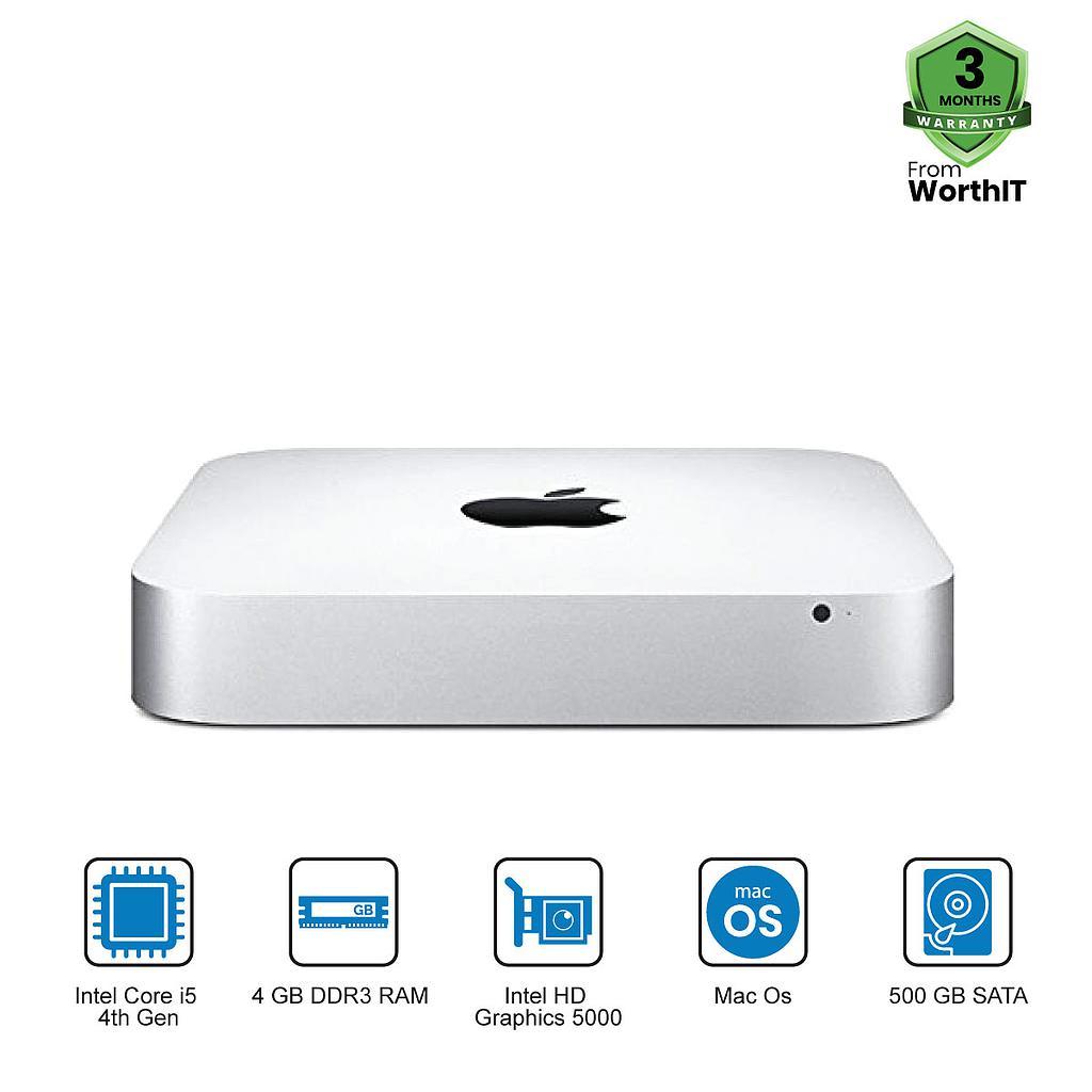 Apple Mac Mini A1347 CPU : Intel Core i5-4th Gen|4GB|500GB|Mac
