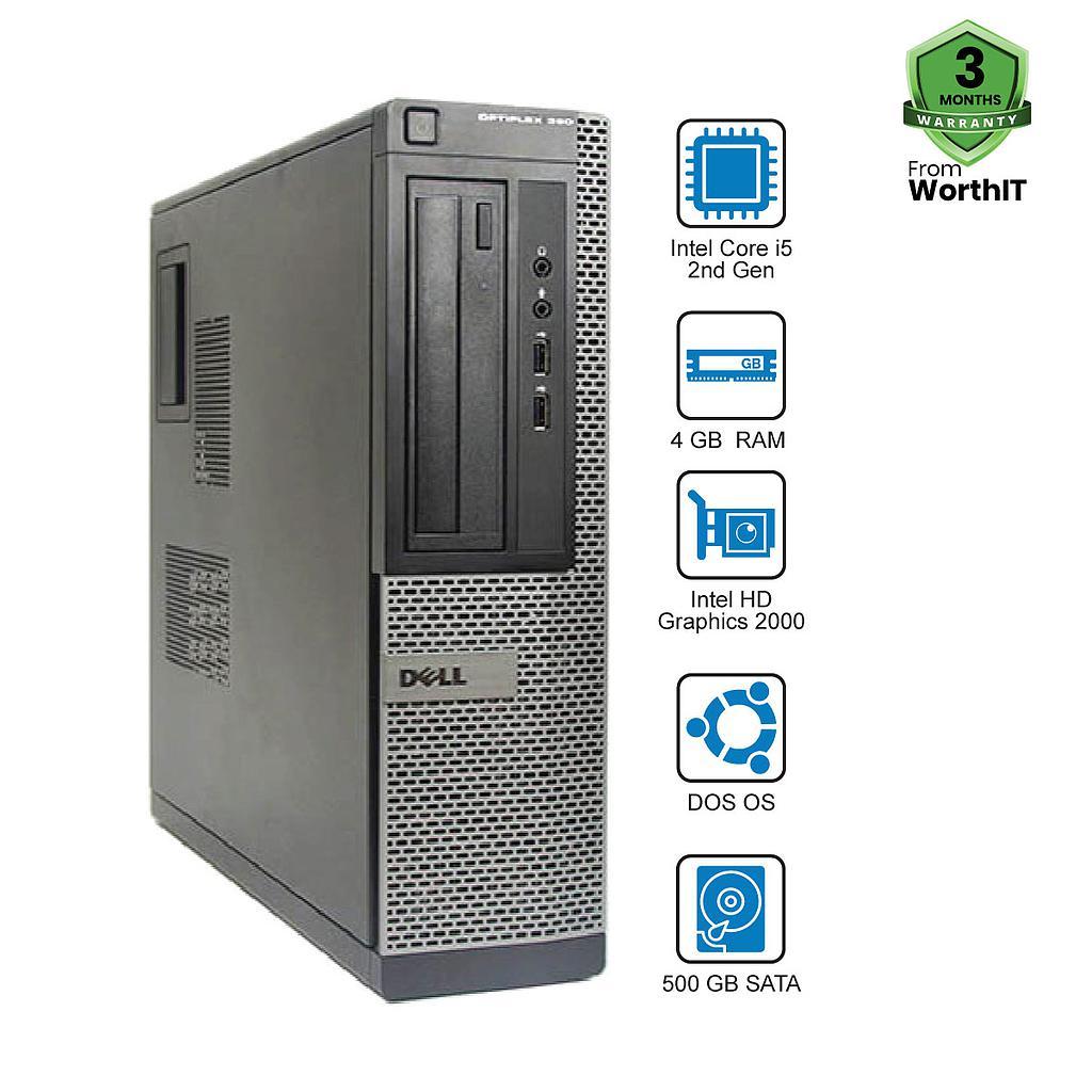 Dell OptiPlex 390 CPU : Intel Core i5-2nd Gen 4GB 500GB DOS
