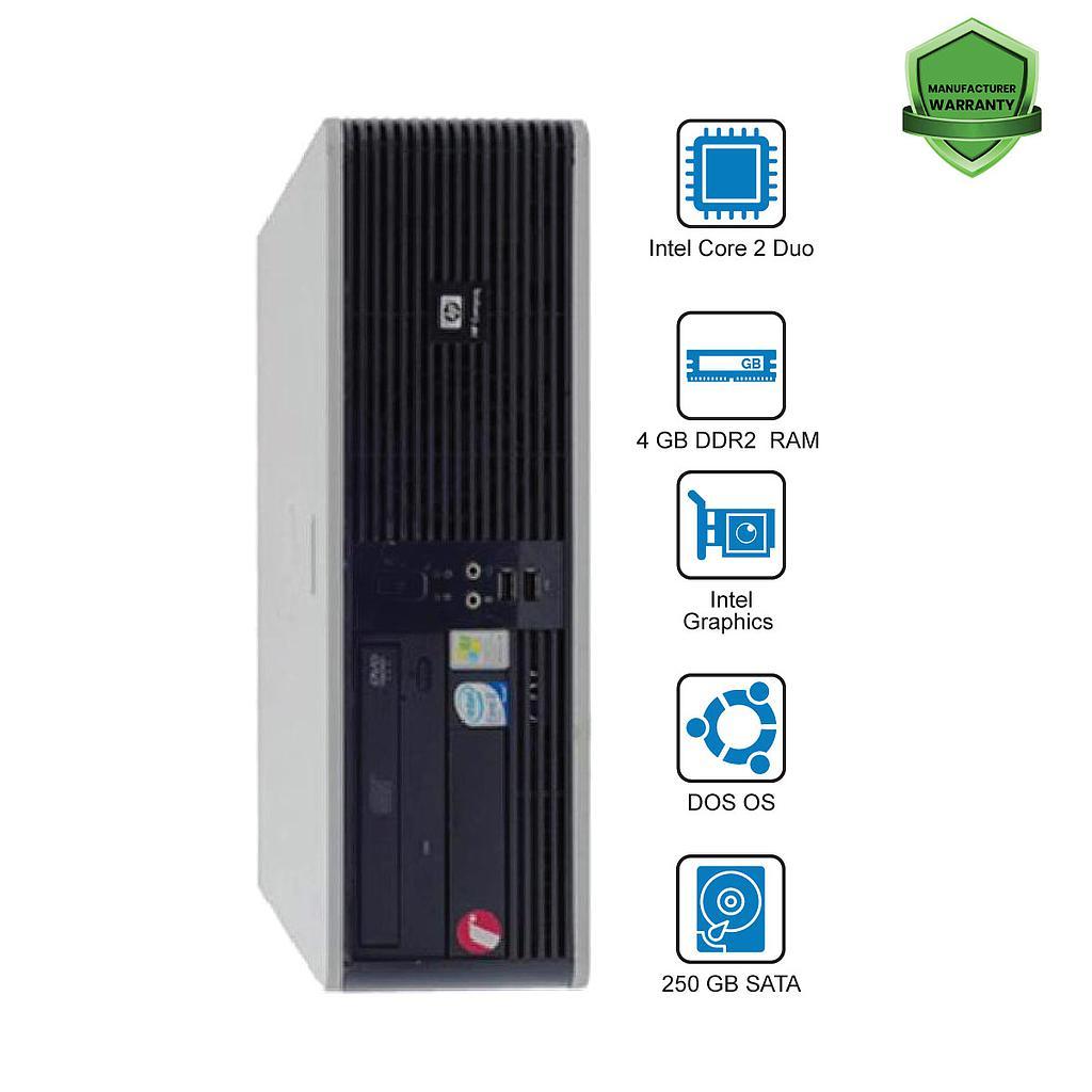 HP Compaq DC5700 CPU : Intel Core 2 Duo 4GB 250GB DVD DOS