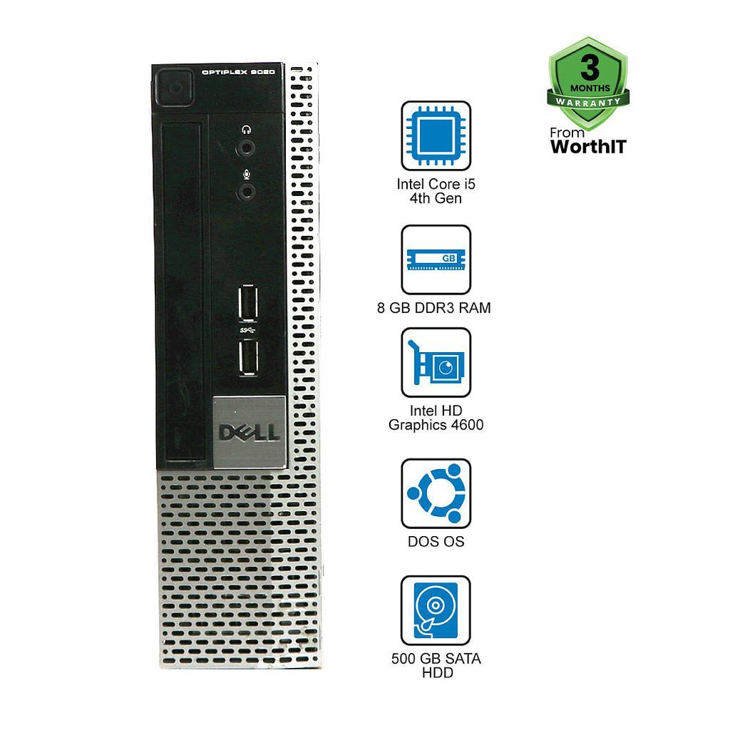 DELL Optiplex 9020 Mini SFF Desktop CPU: Intel Core i5-4th Gen 8GB 500GB Dos